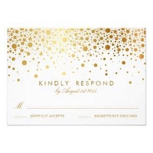 Rsvp Wedding Cards Gold