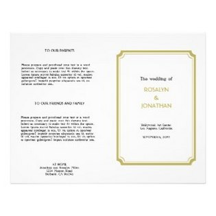 gold-and-white-wedding-programs