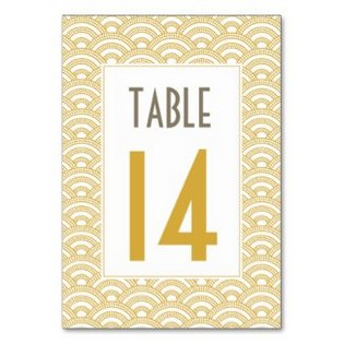 black gold white table cards