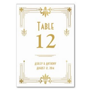 gatsby table numbers