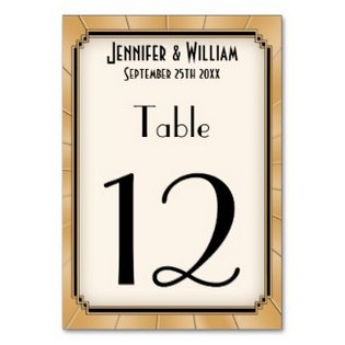 table numbers great gatsby
