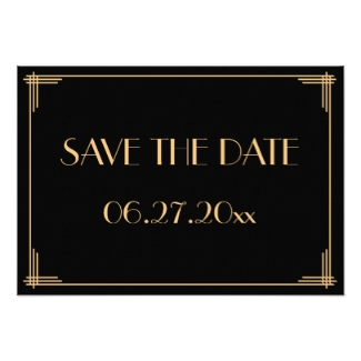 art deco save the date template