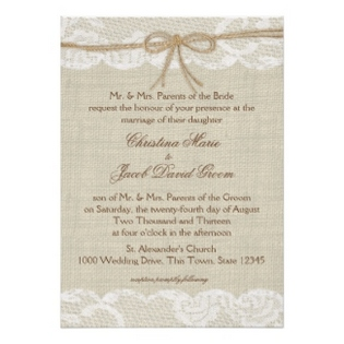 burlap and lace wedding invitations  dream wedding ideas, Wedding invitations