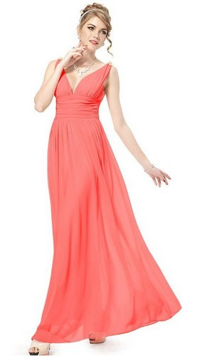 coral bridesmaid dress under 50