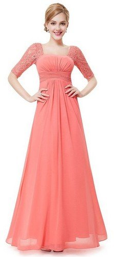 coral bridesmaid dresses with sleeves