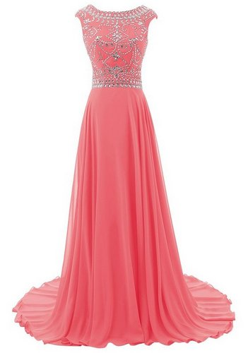 coral reef bridesmaid dress