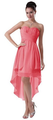 high low coral dress