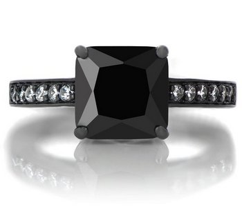 Princess-Cut-CZ-Black-Rhodium-Plated-Engagement-Ring