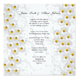 daisy wedding invitations vintage - Daisy Wedding Invitations