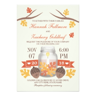fall leaves wedding invitations - Fall Themed Wedding Invitations
