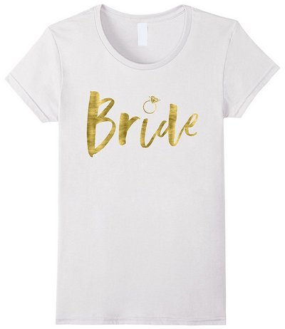 bride shirt with gold foil imitation