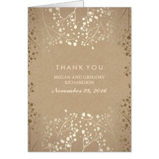 personalized gold thank you cards