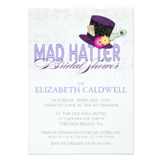 Mad hatter bridal shower invitations dream wedding ideas mad hatter bridal shower invitation filmwisefo Images