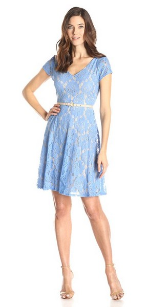 short-periwinkle-dress-for-wedding-guest