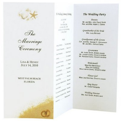 Wedding Program Ideas - Dream Wedding Ideas