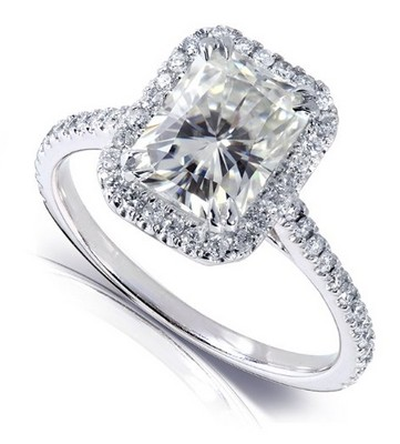 quest for best engagement ring with radiant cut moissanite - Moissanite Wedding Rings