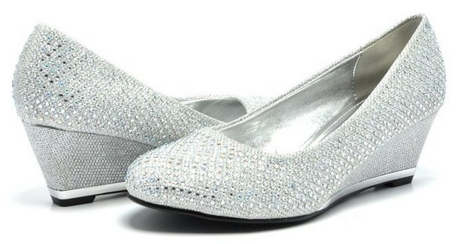 silver pumps shoes for wedding
