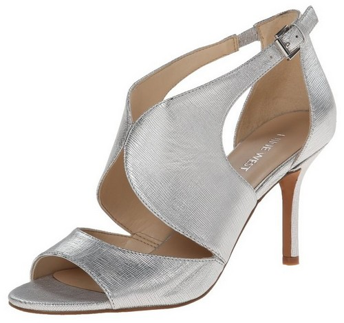 silver mid heel wedding shoes - Wedding Shoes