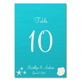 wedding-table-number-beach-theme