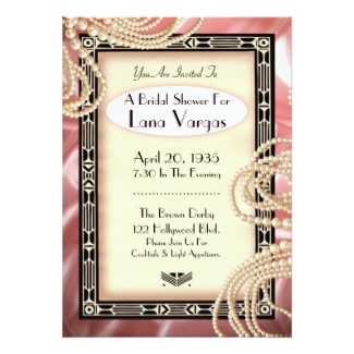 art deco bridal shower invitations dream wedding ideas