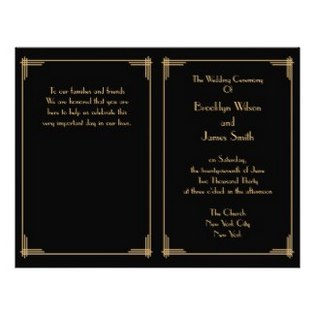 black-gold-wedding-programs-personalized