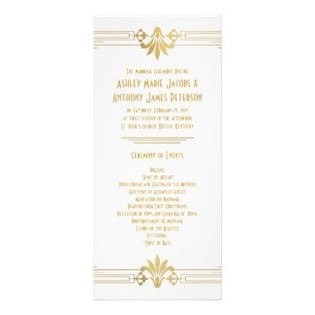 white-and-gold-wedding-programs
