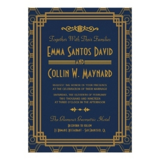 art deco wedding invitations- 325-315