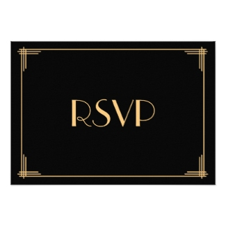 great gatsby wedding invite rsvp