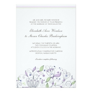 Boho Wedding Invitation Card Flowers