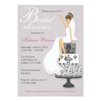 chic bridal shower invitation card