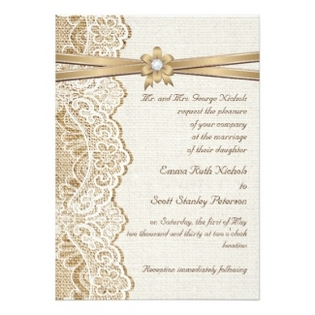 wedding-invitations-lace-and-burlap-gold-ribbon