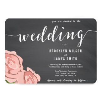 floral-chalkboard-wedding-invitation
