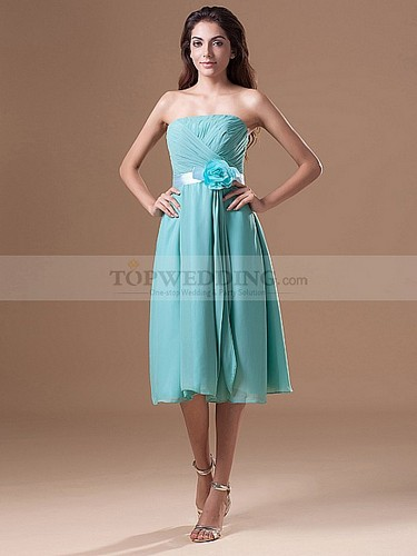 knee-length-chiffon-bridesmaid-dresses