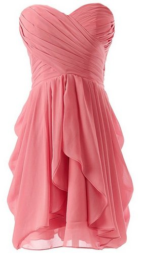 coral bridesmaid dress short