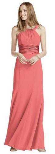 coral bridesmaid dresses davids bridal