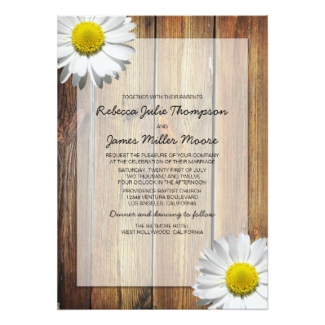 daisy-and-country-theme-wedding-invitation-card