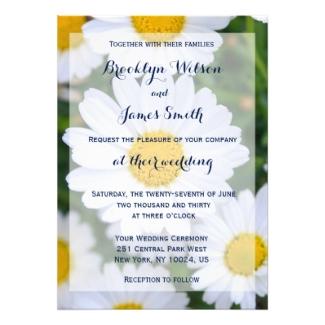 daisy wedding invitations dream wedding ideas
