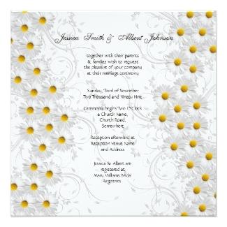 Daisy Wedding Invitations Vintage