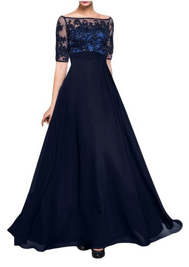 Blue Mother Of The Bride Dresses Floor Length