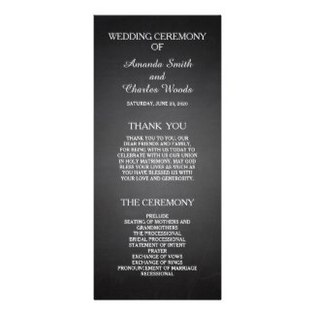 wedding programs examples
