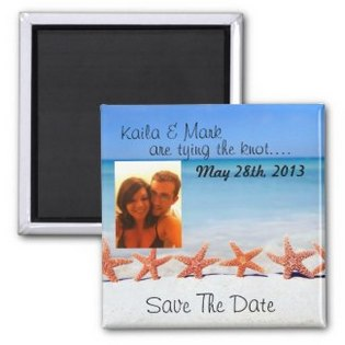 gorgeous starfish beach save the date photo magnet- 325-315