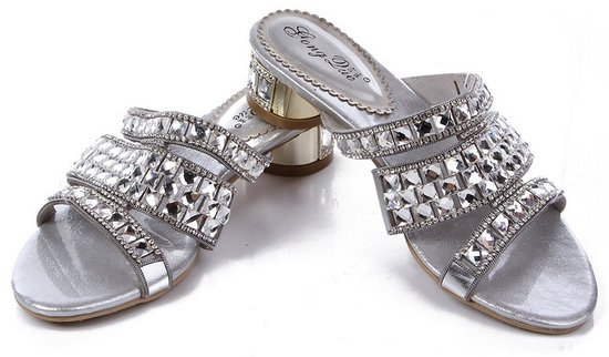 silver art deco shoes for wedding