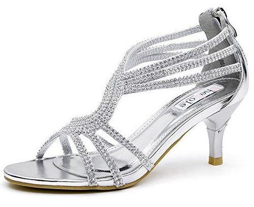 silver sandals for wedding low heel