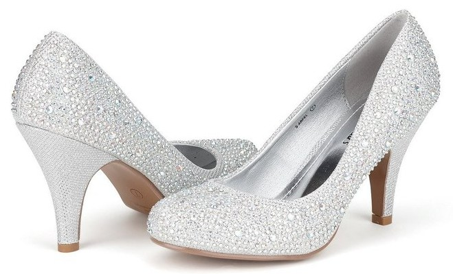 sparkly silver pumps for wedding