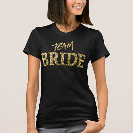 faux gold team bride