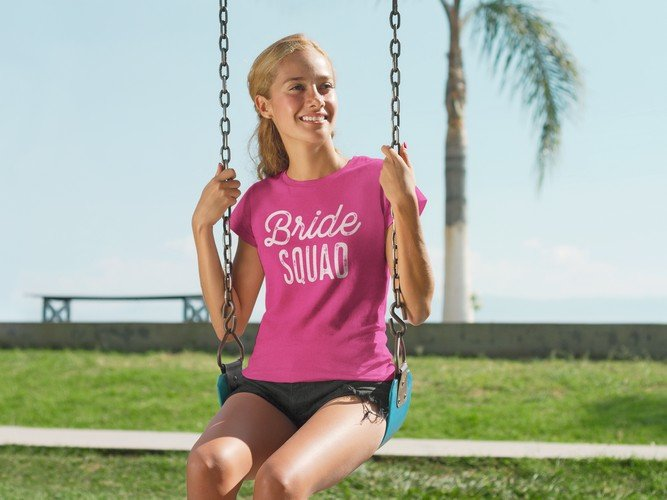 pink team bride shirt