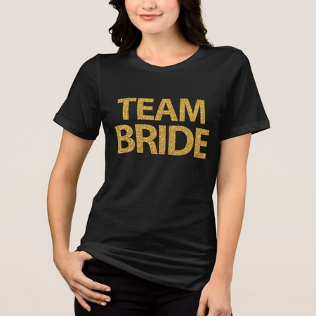 team bride faux gold sequins