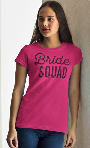 team bride shirt pink