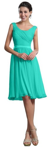 a line turquoise bridesmaid dresses short