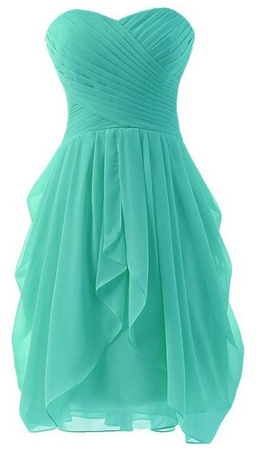 short turquoise bridesmaid dress chiffon